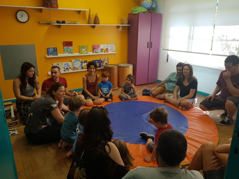 Crianças e famílias do G3 na Oficina Aberta de Música
